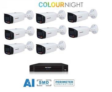 SPRO camera 5MP x 8 - kit met kleur-nachtzicht en audio