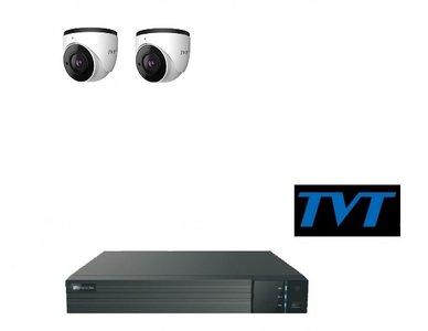 TVT camerasysteem 2TB met 2 x 4MP en 1-weg audio