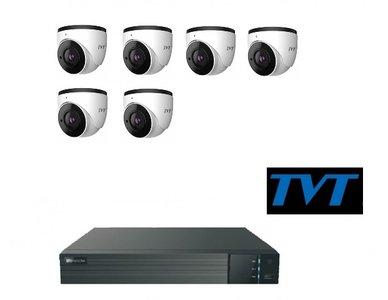 TVT camerasysteem 3TB met 6 x 4MP en 1-weg audio